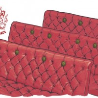 Red benches in the House of Lords