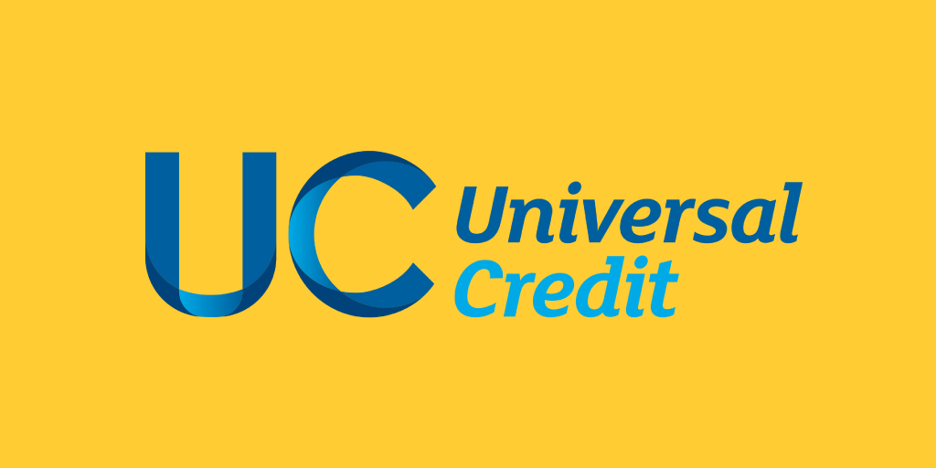 Universal Credit logo on a yellow background
